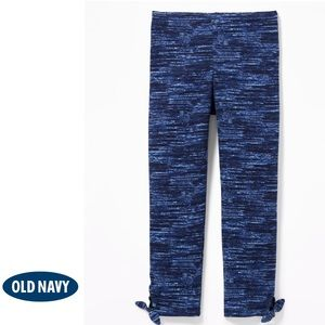 NWT Old Navy Blue Cropped Side Tie Leggings M(8)